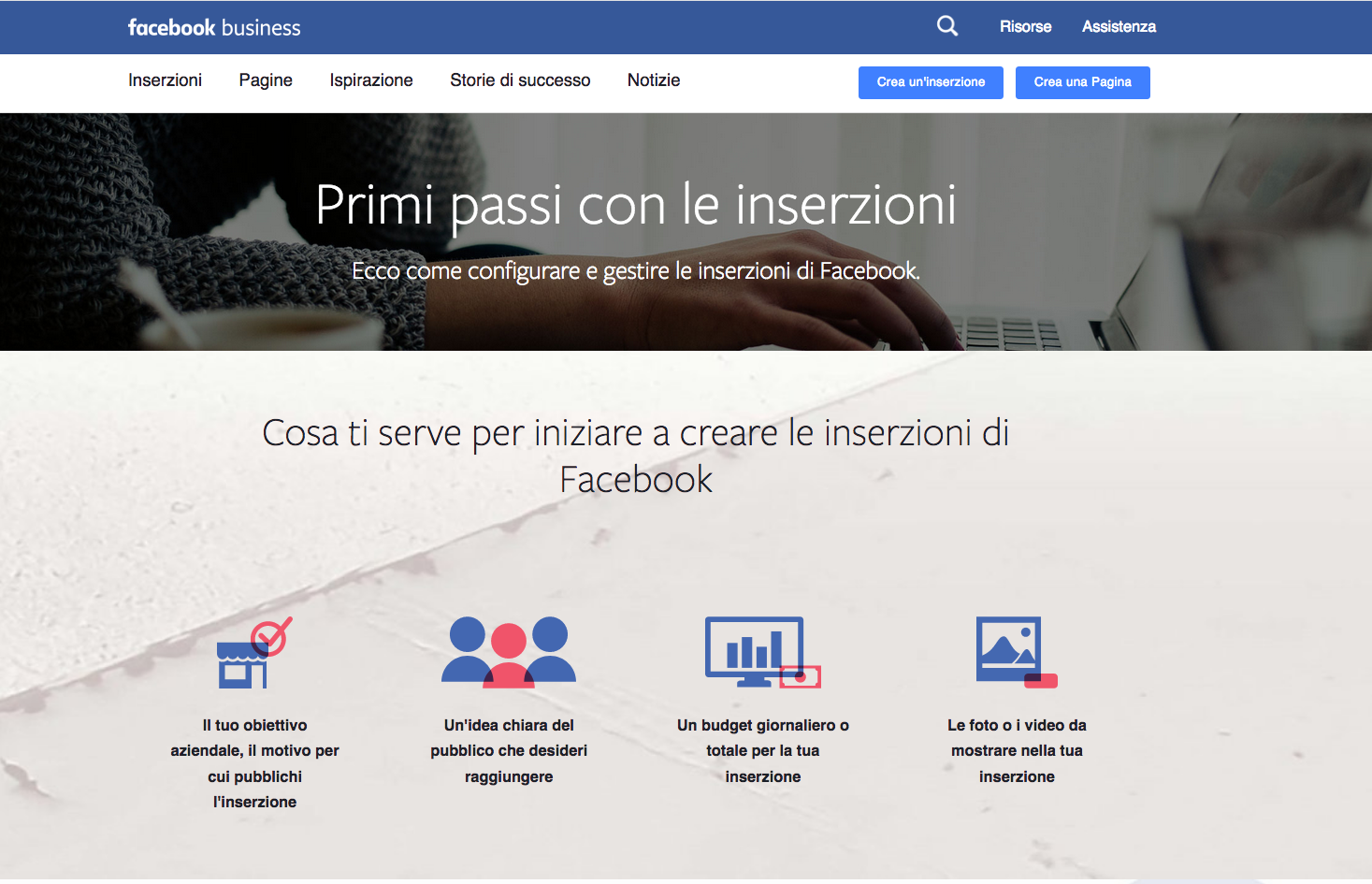 Facebook pannello di controllo Business