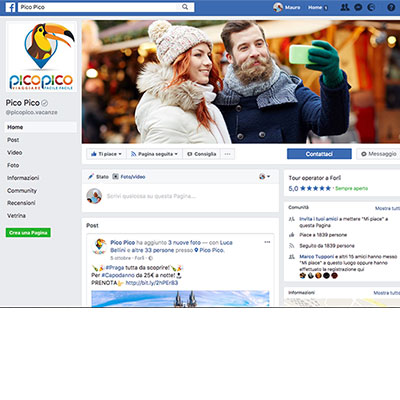 Pagina Facebook per picopico.it